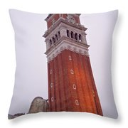 View From The Top Of St Marks Basilica Throw Pillow