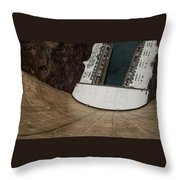 View From Top Of Hoover Dam Throw Pillow