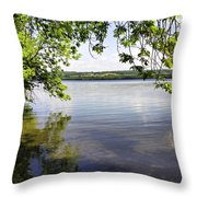 View From Under At Lake Carmi Throw Pillow