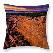 View From Upper Ute Canyon, Colorado National Monument Throw Pillow