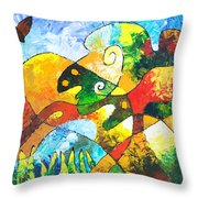 View From Valley Road Throw Pillow