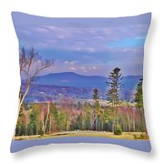 View From Von Trapps Lodge 1 Throw Pillow