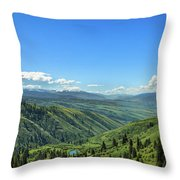 View From White Bird Hill Throw Pillow