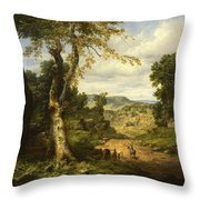 View In Berkshire County, Massachusetts, Clearing Off After A September Storm Throw Pillow