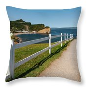 View In Perce Quebec Throw Pillow