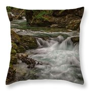 View In Vintgar Gorge #2 - Slovenia Throw Pillow