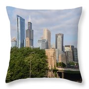View Of A City Throw Pillow