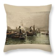 View Of A Dutch Harbour Throw Pillow