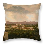 View Of A Mine In Mineral Del Pozos Throw Pillow