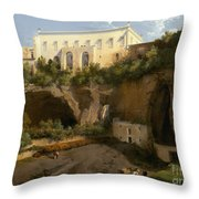 View Of A Villa, Pizzofalcone, Naples Throw Pillow