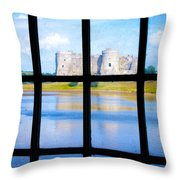 View Of A Wales' Castle Throw Pillow