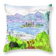 View Of Alcatraz Throw Pillow