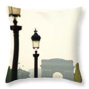 View Of Arc De Triomphe Throw Pillow