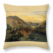 View Of Bagneres De Luchon. Pyrenees Throw Pillow