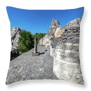 View Of Becan, Mexico Throw Pillow