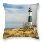 View  Of Big Sable Point Michigan Throw Pillow