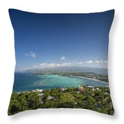 View Of Boracay Island Tropical Coastline In Philippines Throw Pillow