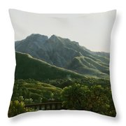 View Of Bridge And The Town Of Cava, Kingdom Of Naples Throw Pillow