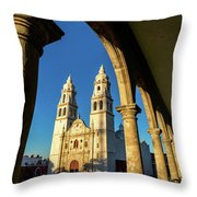 View Of Cathedral And Arches Throw Pillow