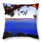 View Of  Central Coast From West Head  Throw Pillow