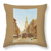 View Of Church Of Mary Throw Pillow