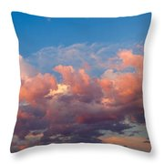 View Of Clouds In The Sky Throw Pillow