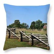 View Of Clover Hill Tavern Appomattox Court House Virginia Throw Pillow