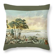 View Of Constantinople From The Marmara Sea Throw Pillow