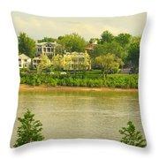 View Of Covington Kentucky Throw Pillow