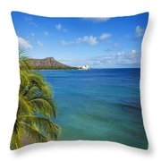 View Of Diamond Head Throw Pillow