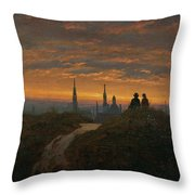 View Of Dresden At Sunset  Throw Pillow