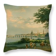 View Of Dresden Throw Pillow