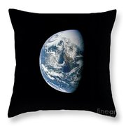 View Of Earth Taken From The Apollo 13 Throw Pillow