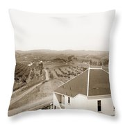 View Of Foothill Orchards. This View Of Orchards In The Foothill Throw Pillow