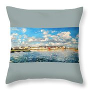 View Of Galway Harbour Throw Pillow