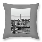 View Of Gettysburg  Throw Pillow