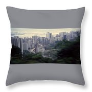View Of Hong Kong Throw Pillow