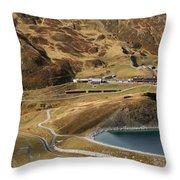 View Of Kleine Scheidegg Throw Pillow