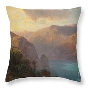 View Of Lac De Lucerne Seen From The Seelisberg, Switzerland Throw Pillow