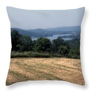 View Of Lake Waramaug Throw Pillow
