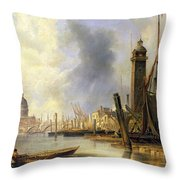 View Of London With St Paul's Throw Pillow