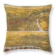 View Of Los Angeles, 1894 Throw Pillow