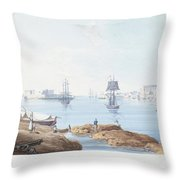 View Of Malta Throw Pillow