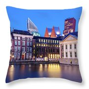 View Of Mauritshuis And The Hofvijver - The Hague Throw Pillow