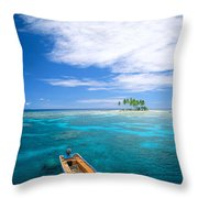 View Of Micronesia Throw Pillow