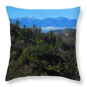 View Of Mount Baldy From The San Bernardino Mountains Throw Pillow