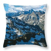 View Of Mountains, Table Mountain Throw Pillow