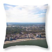 View Of Myrtle Beach Throw Pillow