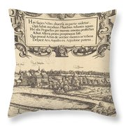 View Of Nuremberg From The West [left Section] Throw Pillow