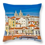 View Of Old Alfama Throw Pillow